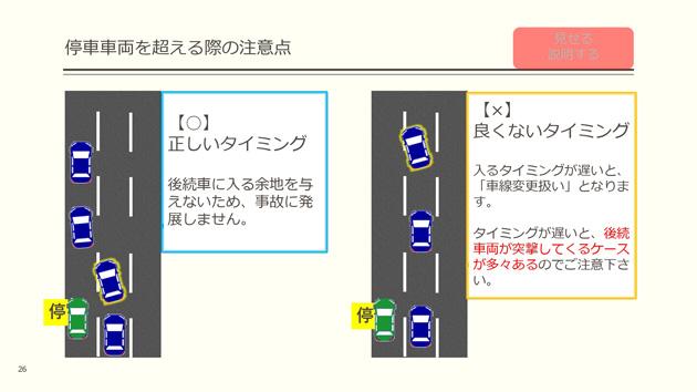 停車車両を超える際の注意点